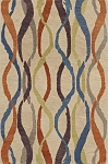 Impulse Linen Ribbon Art Silk & Hand-tufted Wool pile Rug