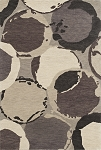 Impulse Grey Rings Art Silk & Hand-tufted Wool pile Rug