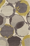 Impulse Ivory Rings Art Silk & Hand-tufted Wool pile Rug