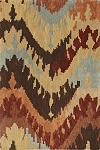 Impulse Taupe Ikat Art Silk & Hand-tufted Wool pile Rug
