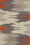 Impulse Orange Art Silk & Hand-tufted Wool pile Rug