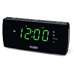 Jensen Atomic Dual Alarm LED Display Digital Radio Alarm Clock