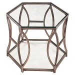 Nevelson Hexagonal End Table