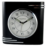 Crestone Alarm Clock Black and Chrome