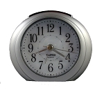 Princeton Alarm Clock Silver and White