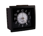 Oxford Alarm Clock Black and Black