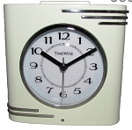 Crestone Alarm Clock Cream and Chrome