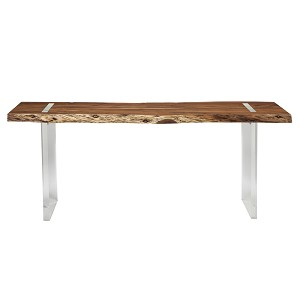 Clear View Sofa Console Table