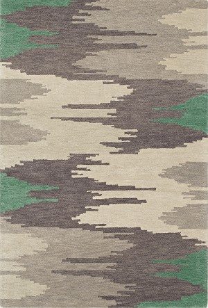 Impulse Emerald Art Silk & Hand-tufted Wool pile Rug