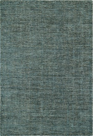 Toro Teal Premium Cut Viscose And Loop Pile Wool Rug