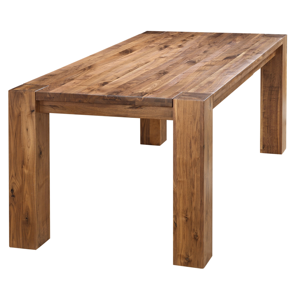 Byron Rustic Solid Walnut Wood Dining Table Rustic Wood Dining