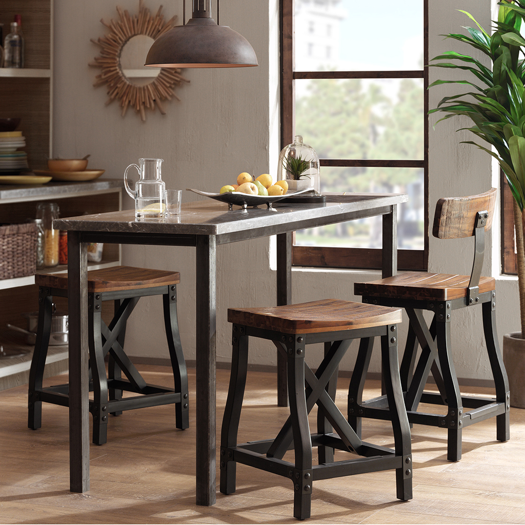 Relatively Cheyenne Counter Height Bar Stool w/Back | Rustic Counter Stools  SY02