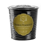 Aquiesse Bamboo Teakwood Large Tin Soy Candle 11 oz
