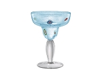 Festive Turquoise Margarita Glass Set of Four