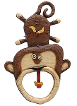 Monkey Boy Pendulum Wall Clock by Allen Designs