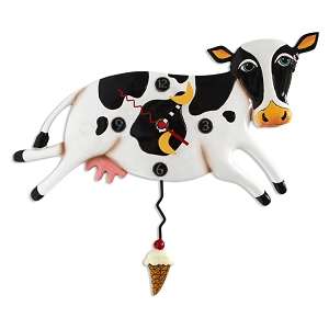 Bessy Cow Wall Clock by Allen Designs
