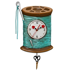 Needle & Thread Wall Clock by Allen Designs