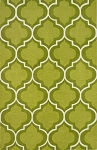 Infinity Lime Poly/Acrylic Plush and Loop Pile Rug