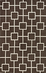 Infinity Mocha Poly/Acrylic Plush and Loop Pile Rug