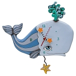Spouting Off Whale Wall Clock by Allen Designs