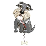 Lucy Schnauzer Dog Pendulum Wall Clock by Allen Designs