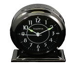 Collegiate Metal Alarm Clock Gunmetal Black