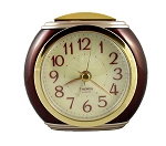 Harvard Alarm Clock Mahogany and Gold
