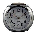 Harvard Alarm Clock Silver and Chrome