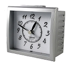 Oxford Alarm Clock Silver and White