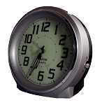 Bell Ringer Alarm Clock Silver and White