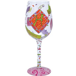 "Love My Letter ""H"" Wine Glass 15 oz. by Lolita"